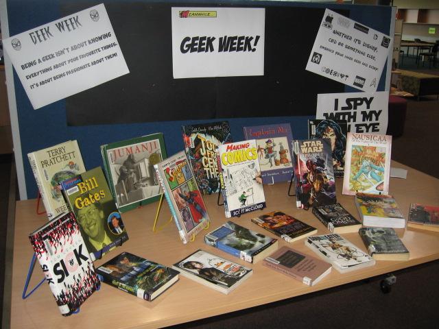 Geek Week Display